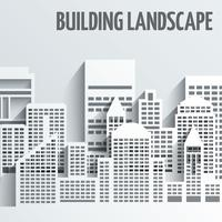 Gebäude Landschaft Emblem vektor