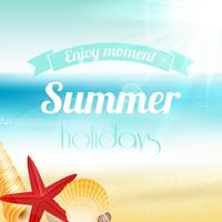 Sommar semester semester affisch vektor