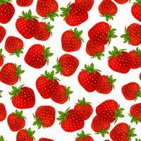 Erdbeer nahtlose Muster vektor