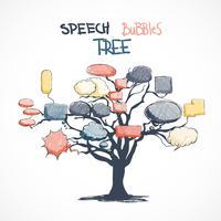 Doodle talk bubblar växer på träd