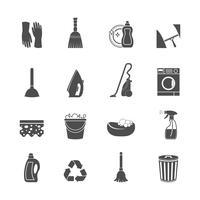 Rengöring ikonuppsättning