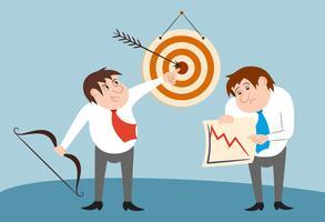 Kaufmann Zeichen Gewinner und Verlierer Konzept