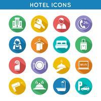 hotell rese ikoner uppsättning vektor