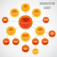 Organigramm Infografik