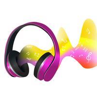 Kopfhörer und Schallwellen