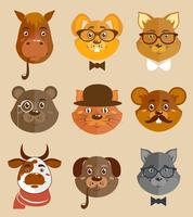Animal hipsters ikoner