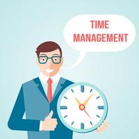 Zeitmanagement-Poster vektor