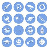 ikoner för rymd och astronomi vektor