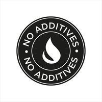 Kein Symbol für Zusatzstoffe vektor