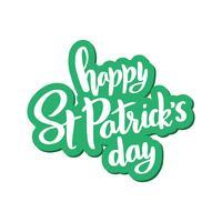 Vektor bokstäver för St Patrick's Day.