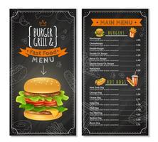 Fast Food-Menü vektor