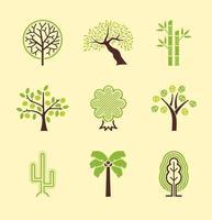 Abstrakt Träd Vector Pack