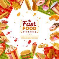 Fast-Food-Vorlage vektor