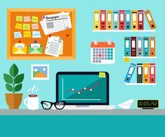 Büro-Arbeitsplatz-Konzept