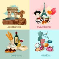 Paris touristisches Set vektor