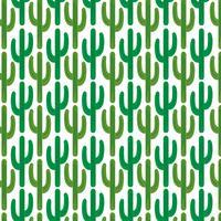kaktusmönster på vit bakgrund vektor
