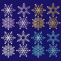 Glitzer-Schneeflocken