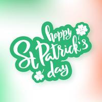 St Patrick's Day typografi bokstäver affisch. Klistermärke med skugga.