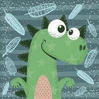 Süße, lustige, verrückte Dinosaurierfiguren. vektor