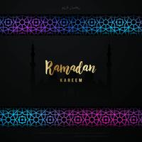 Ramadan Kareem Hintergrundgrußfahne.