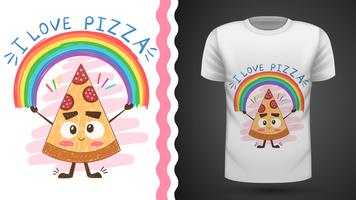 Söt pizza - idé för utskriftst-shirt vektor