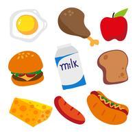 Design der Lebensmittelkollektion vektor