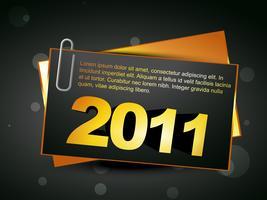nytt år kort vektor