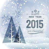 Design 2015 mit Weihnachtsbaum und Schnee vektor