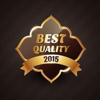2015 bästa kvalitet guld etikett vektor design