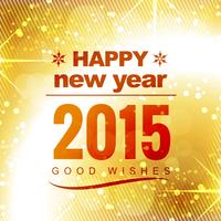 Frohes neues Jahr gute Wünsche in golden glänzendem Hintergrund vektor