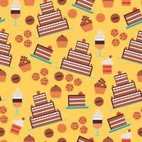 Süßwaren-nahtloses Muster vektor