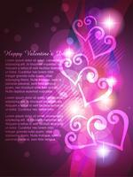 glänsande hjärta vektor