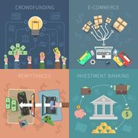 bankdesign koncept uppsättning