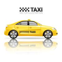 Realistische Taxi-Illustration