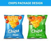 Chips Pack Design vektor