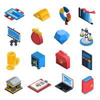 Finanzielle Icons isometrisch