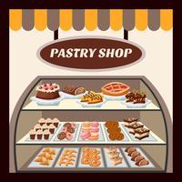 Pastry Shop Bakgrund vektor