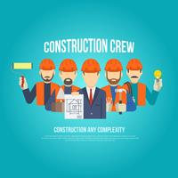 Bauherren Konzept flach