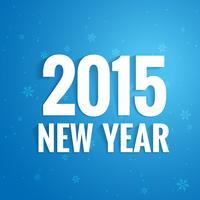 Einfaches Kartendesign des neuen Jahres 2015 vektor