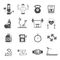 Gym Symbol Schwarz Set