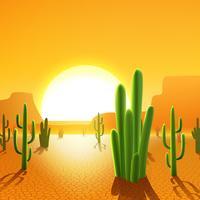Kaktuspflanzen in der Wüste vektor
