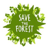 Speichern Sie das Waldkonzept
