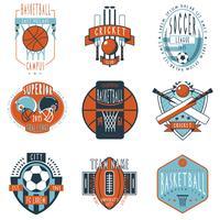 Sportklubbar etiketterar ikoner