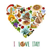 Italien-touristisches Plakat vektor