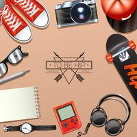 Hipster Hintergrund Illustration vektor