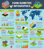 Infographic Plakat des inländischen Viehzuchtbetriebs vektor