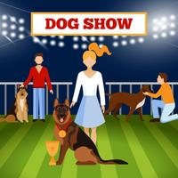 Folk Wigh Dogs Poster