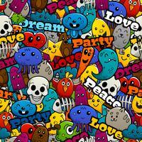 Graffiti-Zeichen-nahtloses Muster