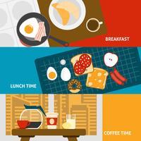 Frühstück Banner gesetzt vektor