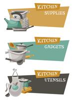 Küchengeräte Icons Set vektor